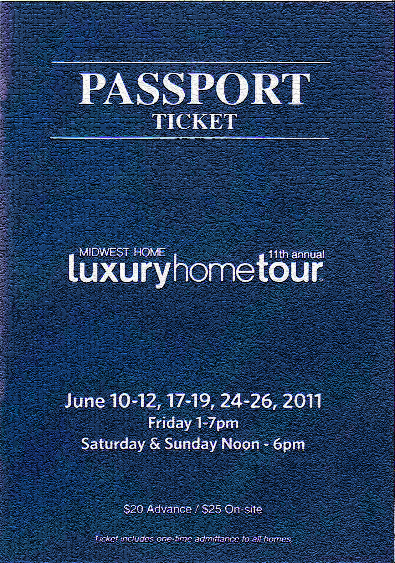 2011 Luxury Home Tour Passport