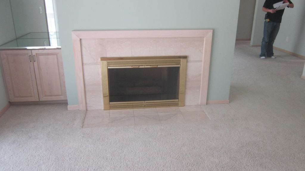 Fireplace and Mantle Refinish
