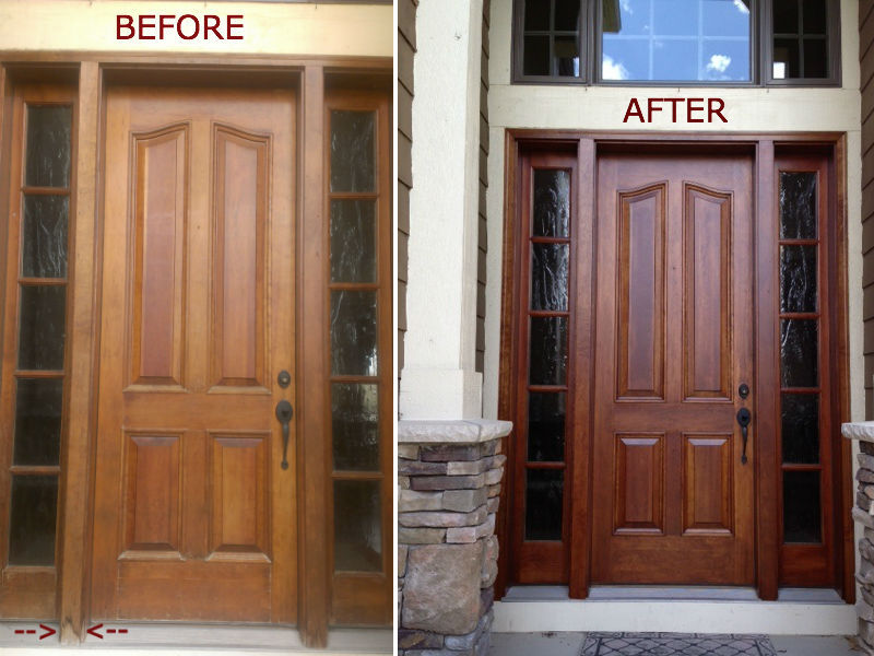 How To Refinish A Wood Front Door Mycoffeepot Org