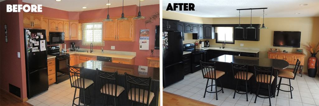 Kitchen Before and After picture