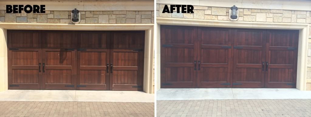 Before and After Garage Doors
