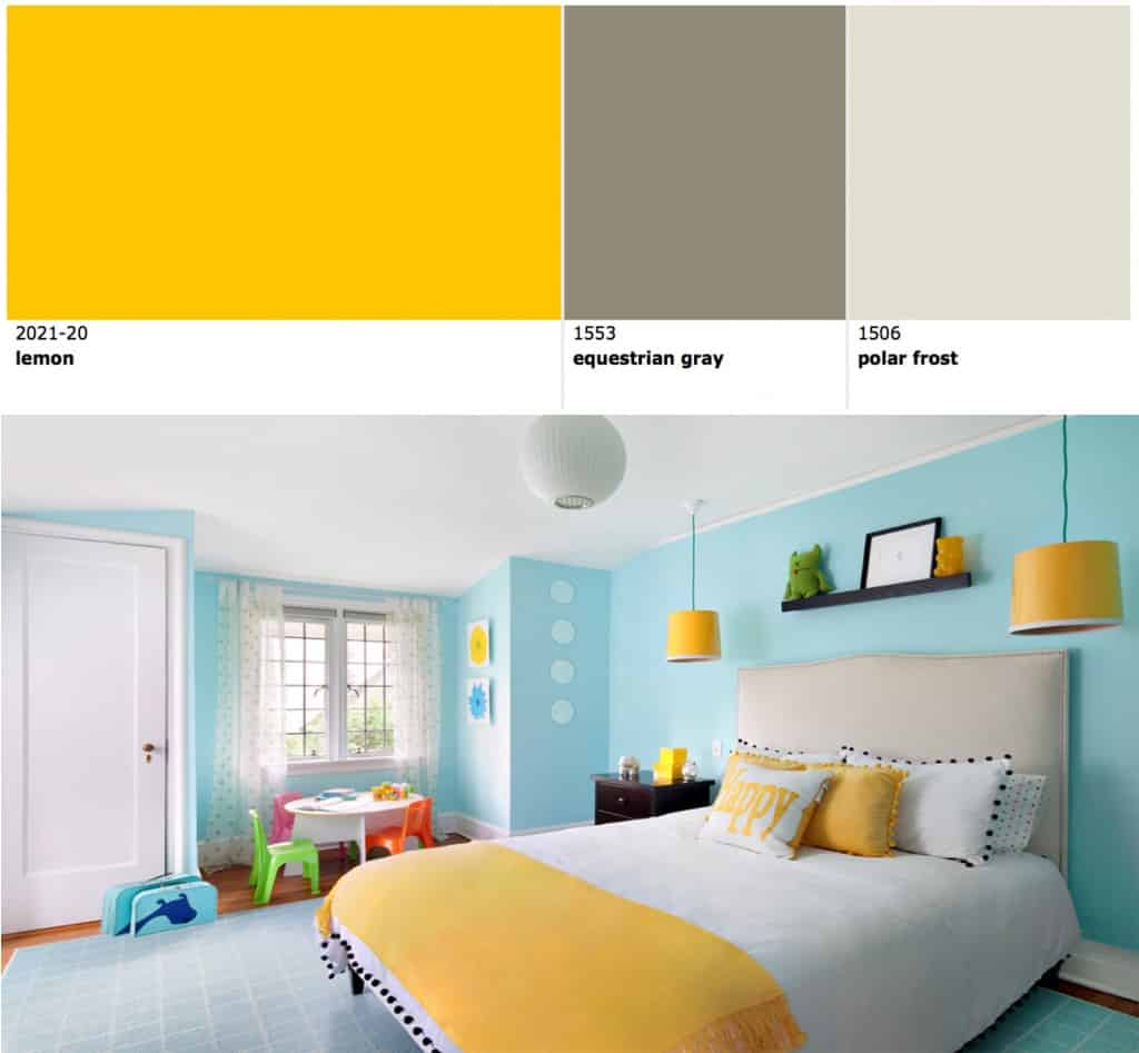 Lemon Yellow Bedroom