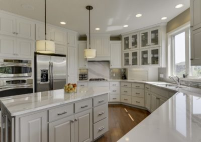 White and Gray Kitchen Cabinets 1