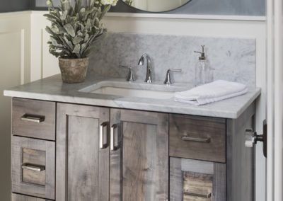 Gray Stained Bathroom Vanity
