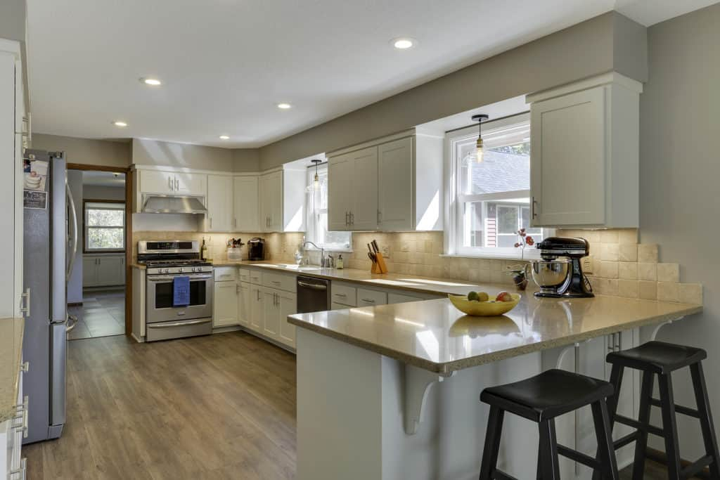 How To Style Your Kitchen Matching Your Countertops Cabinets And Flooring Painterati