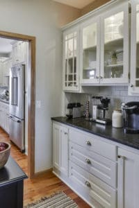 white kitchen, paint, enamel, refresh, remodel, update, cherry makeover