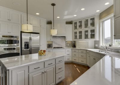 White kitchen cabinets, kitchen ideas, remodeled kitchen, best minneapolis painter, how to choose paint colors